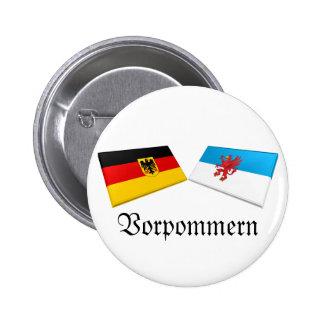 Vorpommern, Germany Flag Tiles Pinback Buttons