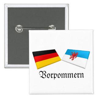 Vorpommern, Germany Flag Tiles Pinback Button