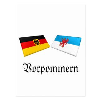 Vorpommern, Germany Flag Tiles Postcard