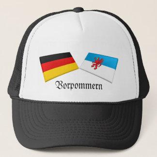 Vorpommern, Germany Flag Tiles Trucker Hat