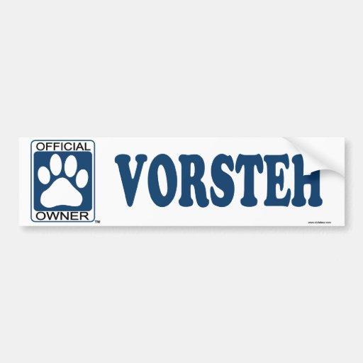 VORSTEH_Blue Bumper Stickers