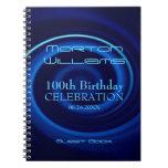 Vortex 100th Birthday Celebration S Guest Book Spiral Notebook