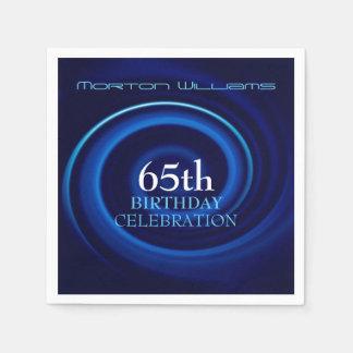 Vortex 65th Birthday Celebration Paper Napkins