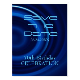 Vortex 70th Birthday Save the Date - Postcard