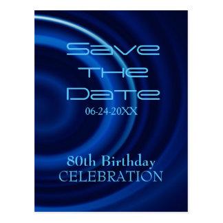 Vortex 80th Birthday Save the Date Postcard