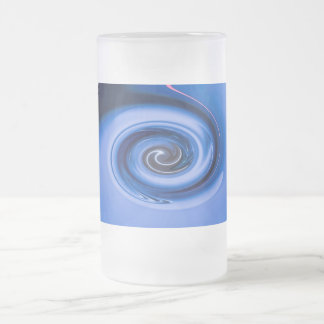 Vortex by Shirley Taylor Frosted Glass Beer Mug