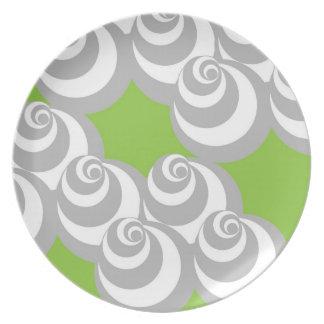 Vortex (Grey/Green) Plate