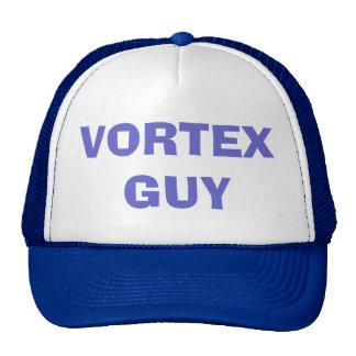 VORTEX GUY CAP - Blue / White Mesh Trucker Hats