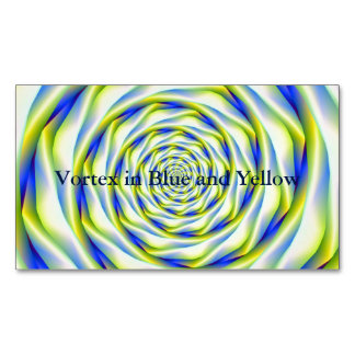 Vortex in Blue and Yellow Magnetic Business Card