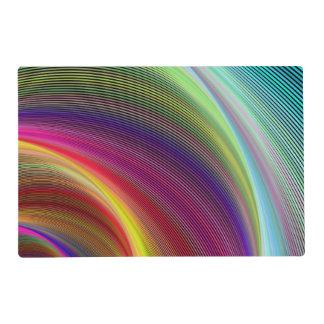 Vortex of colors placemat