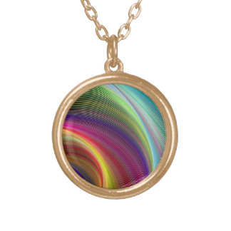 Vortex of colors round pendant necklace