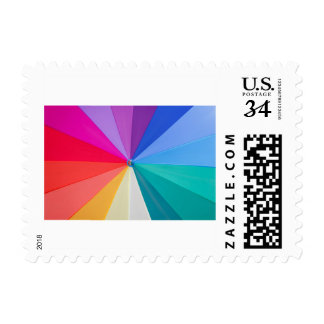 vortex of colours on small stamp postcard