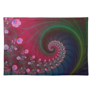 Vortex on Poppy Row Placemats Cloth Placemat