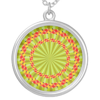 Vortex Optical Illusions-1 Silver Plated Necklace