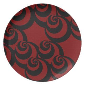 Vortex (Red/Black) Plate