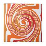 vortex - red orange yellow tile
