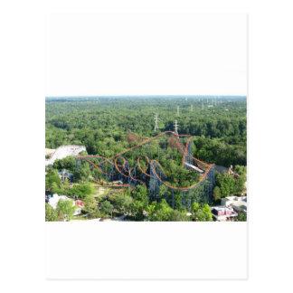 Vortex Roller Coaster Kings Island Post Card