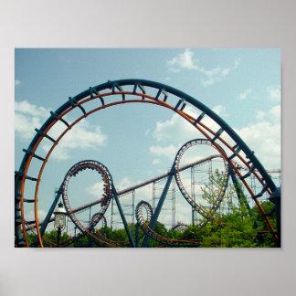 Vortex,Roller Coaster,KingsIsland,Amusement Park, Poster