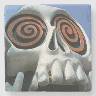 Vortex Skull, Little 5 Points, Atlanta Landmark Ma Stone Coaster