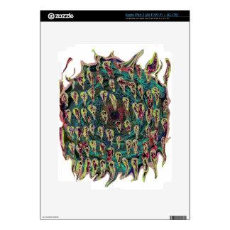Vortex Spiral to Hell Teal version iPad 3 Decals