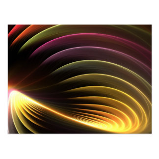 Vórtice abstracto del fractal que brilla postal