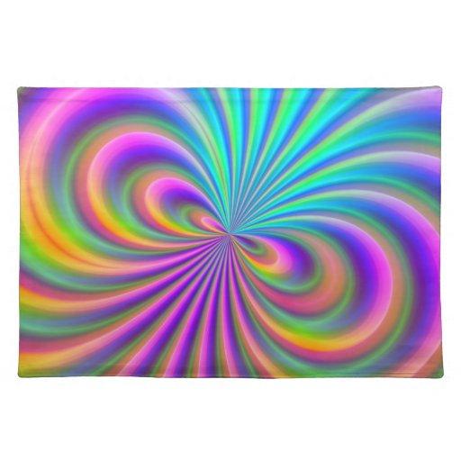 Vórtice abstracto mantel individual