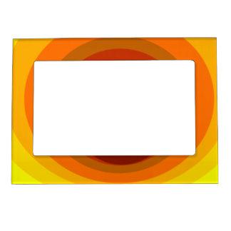 Vórtice amarillo-naranja marcos magneticos de fotos
