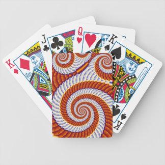 Vórtice anaranjado baraja de cartas