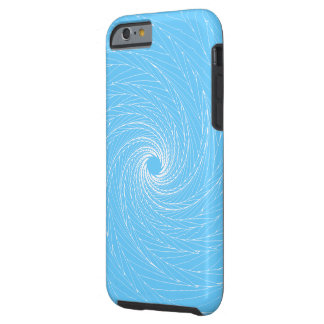Vórtice azul funda de iPhone 6 tough