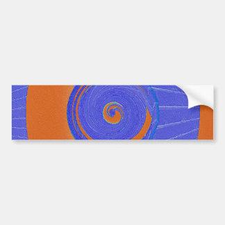 Vórtice azul y anaranjado pegatina de parachoque