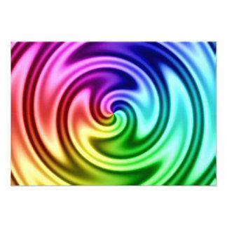 Vórtice colorido abstracto que tuerce en espiral comunicado