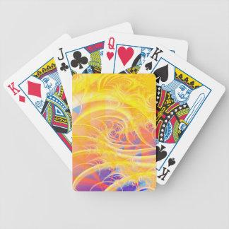 Vórtice colorido del fractal: cartas de juego