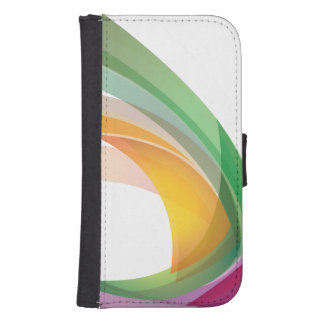 Vórtice del arco iris - caja de la cartera de la funda tipo cartera para galaxy s4