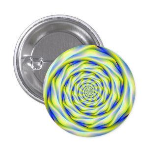 Vórtice del botón   de Pinback en azul y amarillo