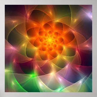 Vórtice del color del fractal poster