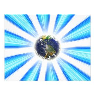 Vórtice del extracto de la tierra del planeta flyer personalizado