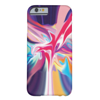 Vórtice del multicolor funda de iPhone 6 barely there