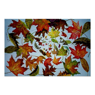 Vórtice del otoño póster
