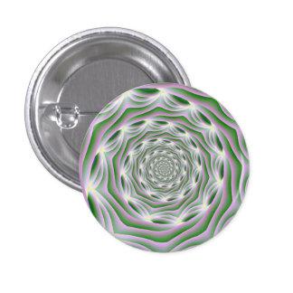 Vórtice del rosa y del verde de botón de Pinback Pin
