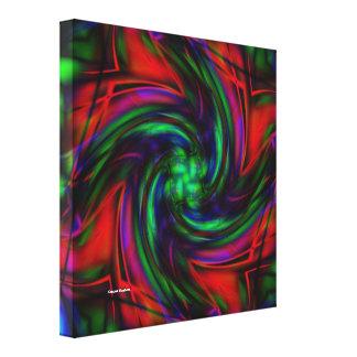 Vórtice dimensional lona estirada galerías