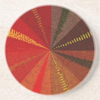 Vórtice espiral anaranjado posavasos manualidades