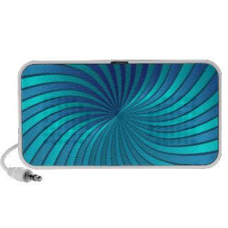 Vórtice espiral azul de la caja del altavoz