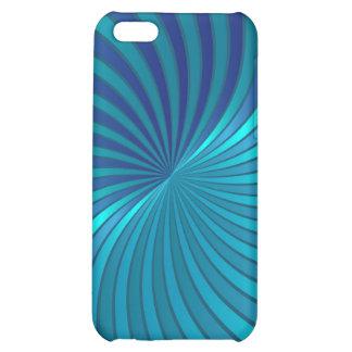 vórtice espiral azul del caso del iPhone 5