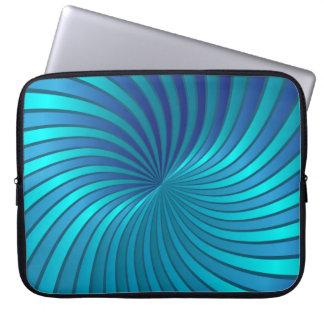 Vórtice espiral azul del ordenador portátil de la fundas ordendadores