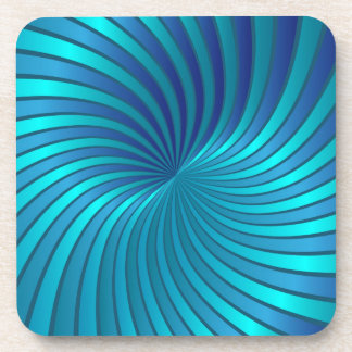 Vórtice espiral azul del práctico de costa posavaso