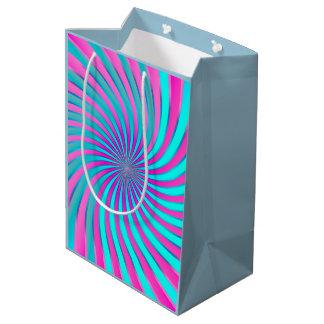 Vórtice espiral del bolso del regalo bolsa de regalo mediana
