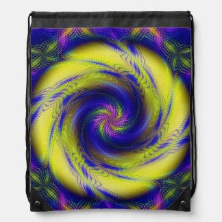 Vórtice espiral del fractal de la mochila del lazo