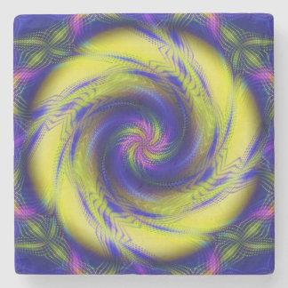 Vórtice espiral del fractal de piedra del práctico posavasos de piedra