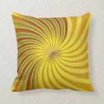 Vórtice espiral del oro de la almohada
