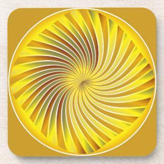 Vórtice espiral del oro del práctico de costa posavaso